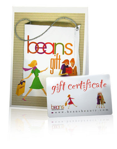 Beans Online Gift Certificate