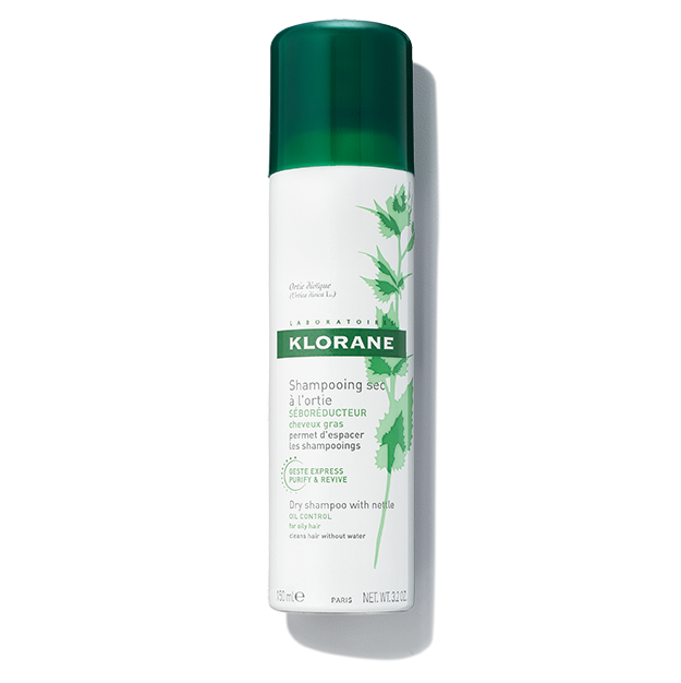 Klorane Dry Shampoo for Dark Hair With Nettle Regulates Oil Production and Creates Volume and Texture