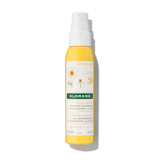 Klorane Blonde Highlights Lightening Spray with Chamomile and Honey Leave-In Repairs and Brightens Blonde Hair