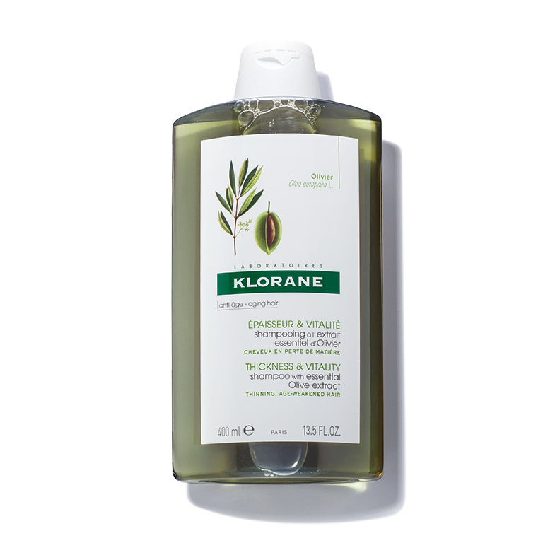 Klorane Thickness and Vitality Shampoo with Essential Olive Extract Increases Each Hairs Diameter/ Thickening