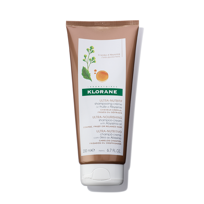 Klorane Ultra Nourishing Shampoo-Cream With Abyssinia Oil for Very Dry, Coarse, Curly, Brittle Hair
