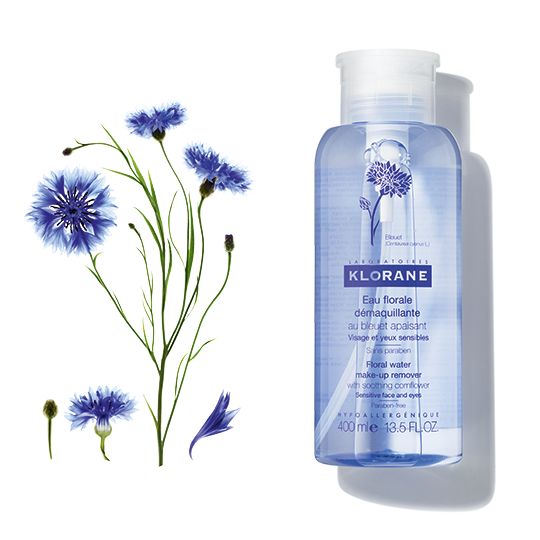 Klorane Floral  Make-Up Remover with Soothing Cornflower
