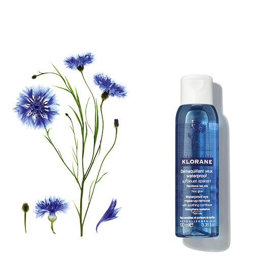 Klorane Waterproof Eye Make-Up Remover With Soothing Cornflower