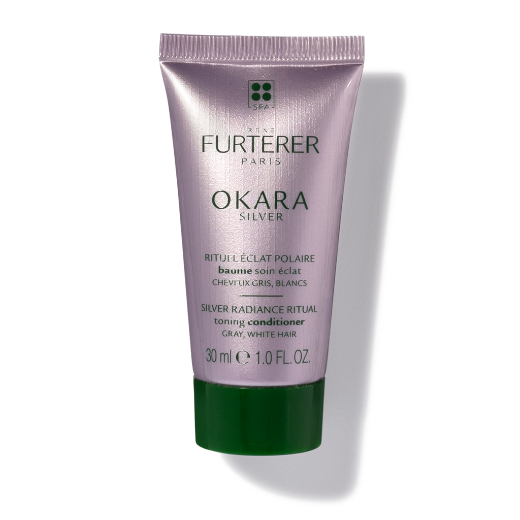 Rene Furterer Okara Silver Toning Conditioner (2-Sizes) for gray, white or platinum blonde hair