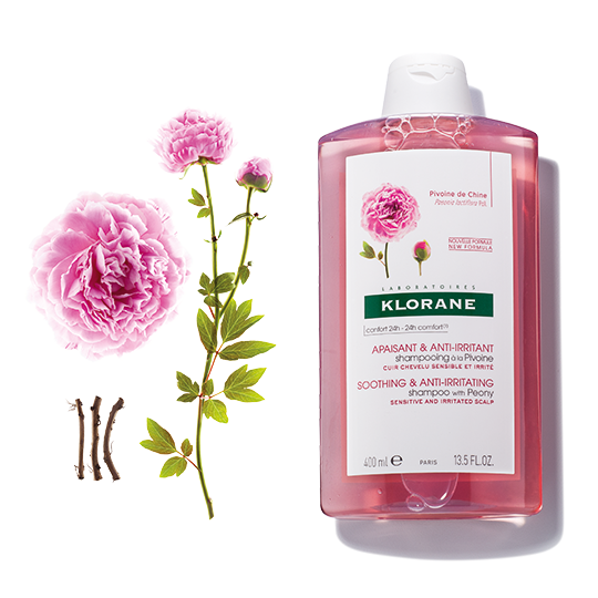 Klorane Smoothing and Anti-Irritating Shampoo with Peony Soothes and Calms Sensitive Scalps