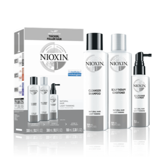 Nioxin 3-Part System #1 Hair System Kit ~ for natural hair with light thinning