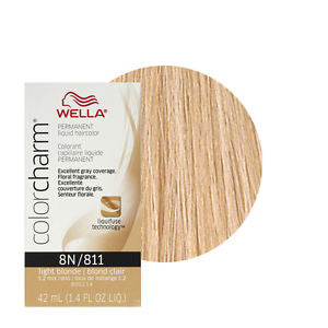 Wella Color Charm Liquid Permanent Hair Color 8N - Light Blonde