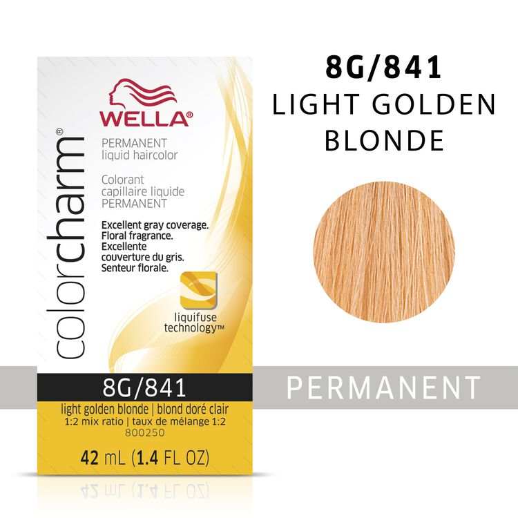 Wella Color Charm Liquid Permanent Hair Color 8G - Light Golden Blonde