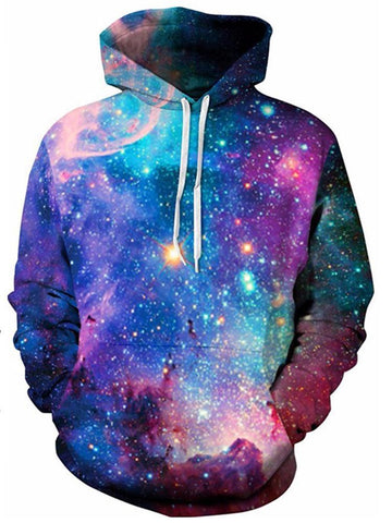 Colorful Starry 3D Digital Print Halloween Hoodie