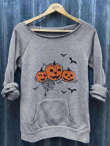 Halloween Pumpkin Printed T-shirt