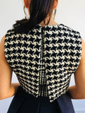 Christian Dior | Houndstooth Peplum Dress