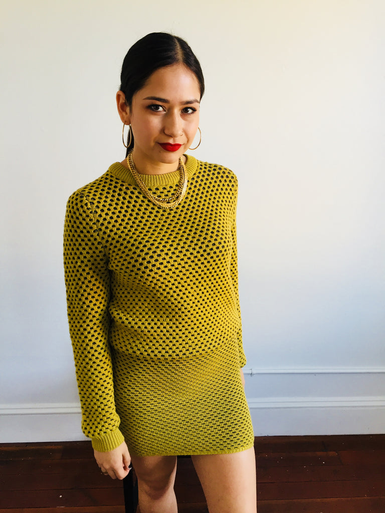 Opening Ceremony | Chartreuse Knit 2pc Set
