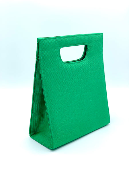 Vintage Grass Green Structured Handbag