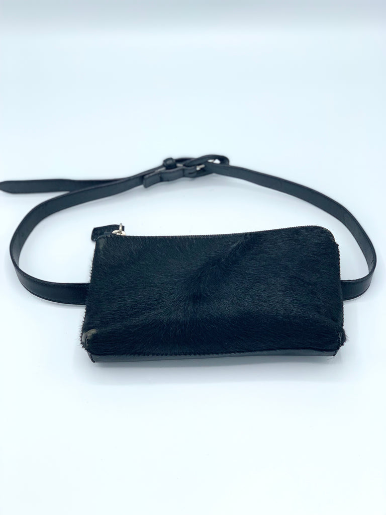 Talbots Leather and Pony hair Belt Bag