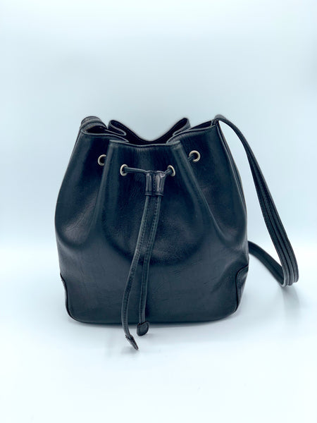 M. London Vintage Bucket Shoulder Bag