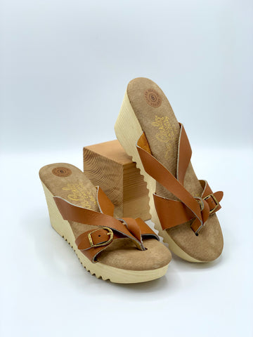 Vintage De Carlo Casuals Wedge Sandals