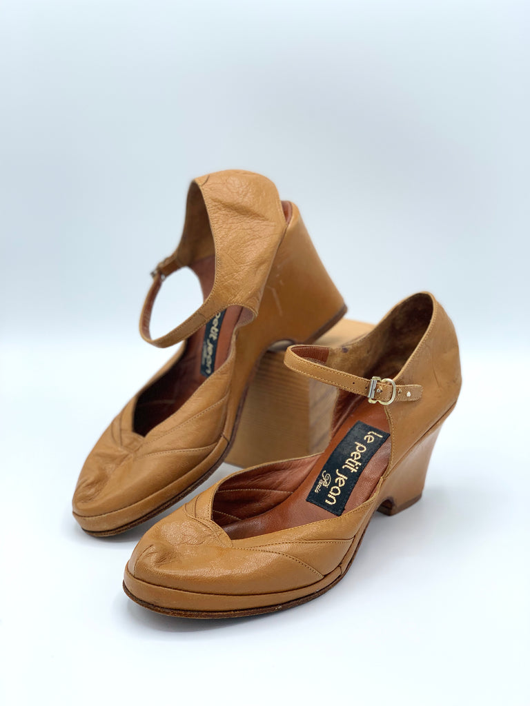 Le Petit Jean Leather Wedge Heels