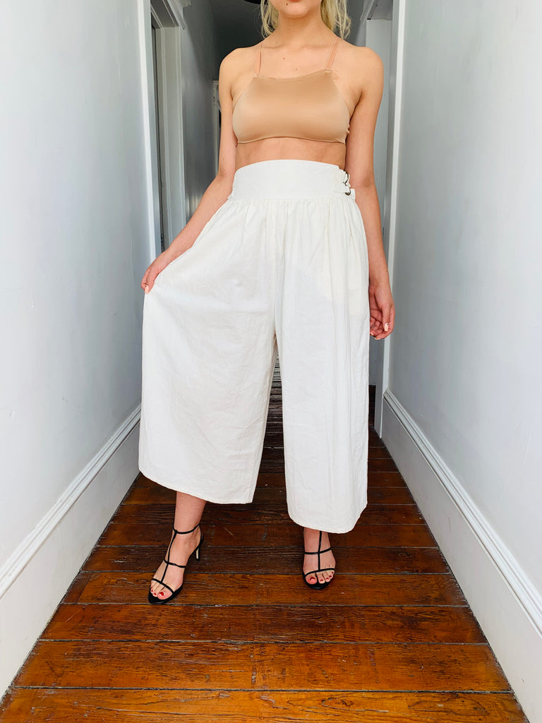Cotton Double Buckle Gauchos
