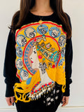 Alphonse Mucha  Zodiac Sweater/Dress with Sequin and Chain Detail