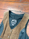 Leopard Leather Vest