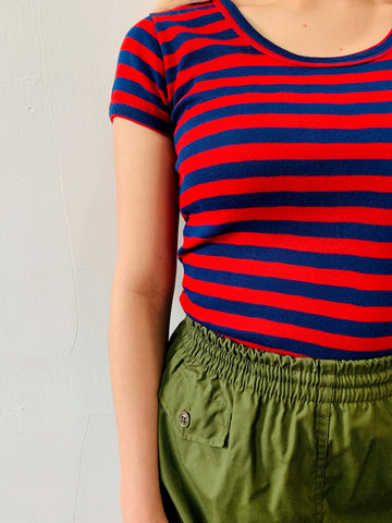 Vintage 70s Striped Partners Tee