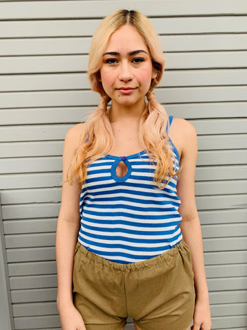 Vintage Helen Sue Nautical Striped Tank