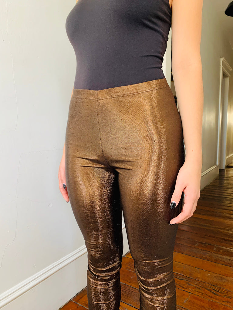 Jean Paul Gaultier Bronze Leggings