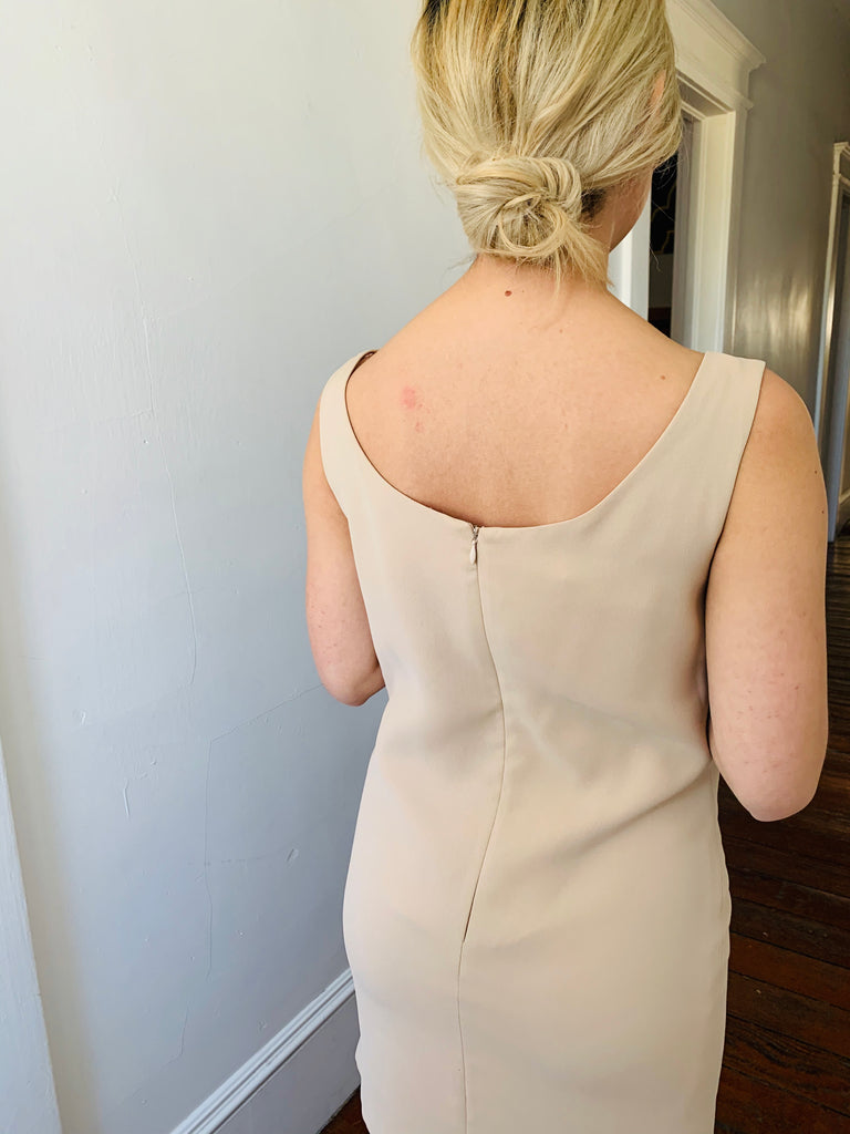 Tahari Nude Mini Dress