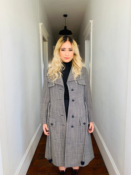 Christian Dior Houndstooth Coat