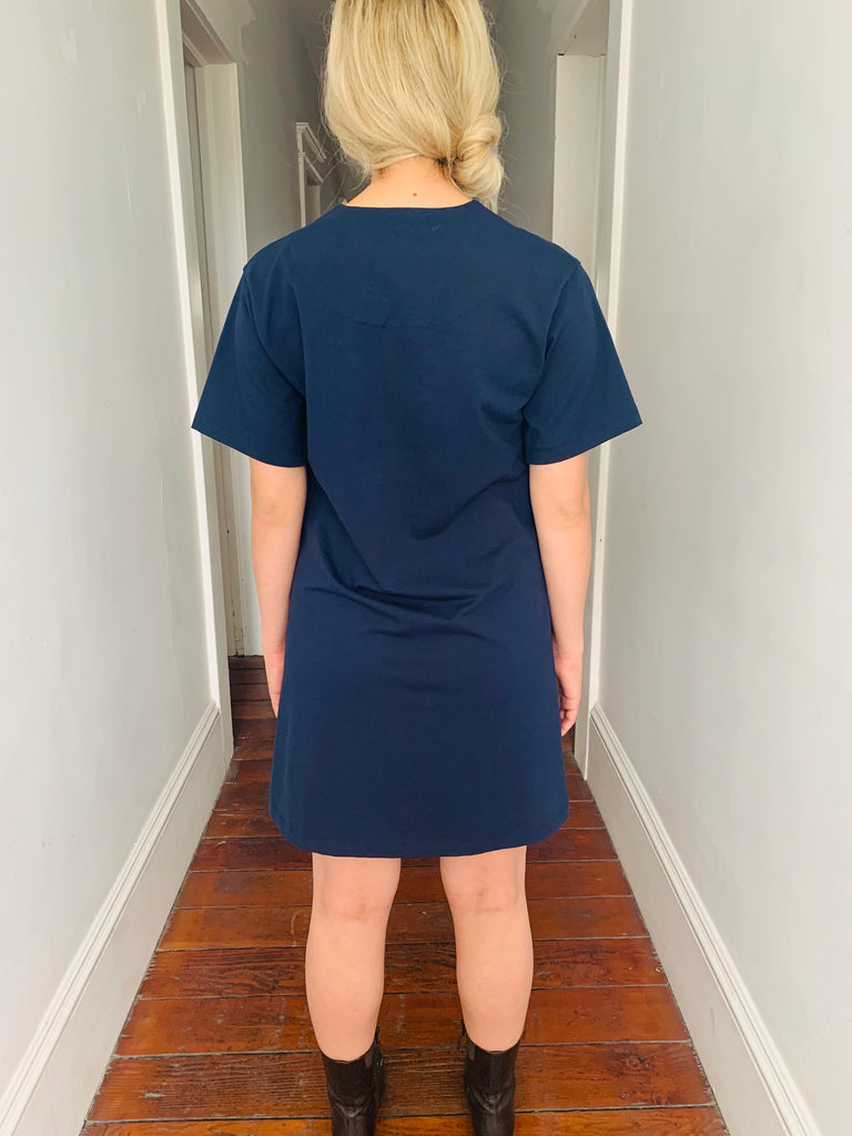 Carven Navy Blue Shift Dress