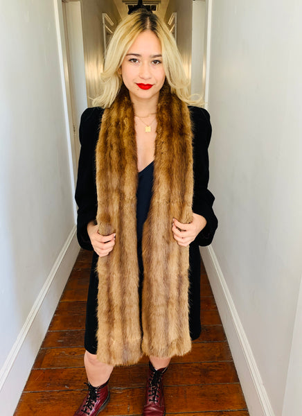 Vintage Fur-Trimmed Coat