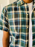 Vintage Plaid Short-Sleeve Shirt