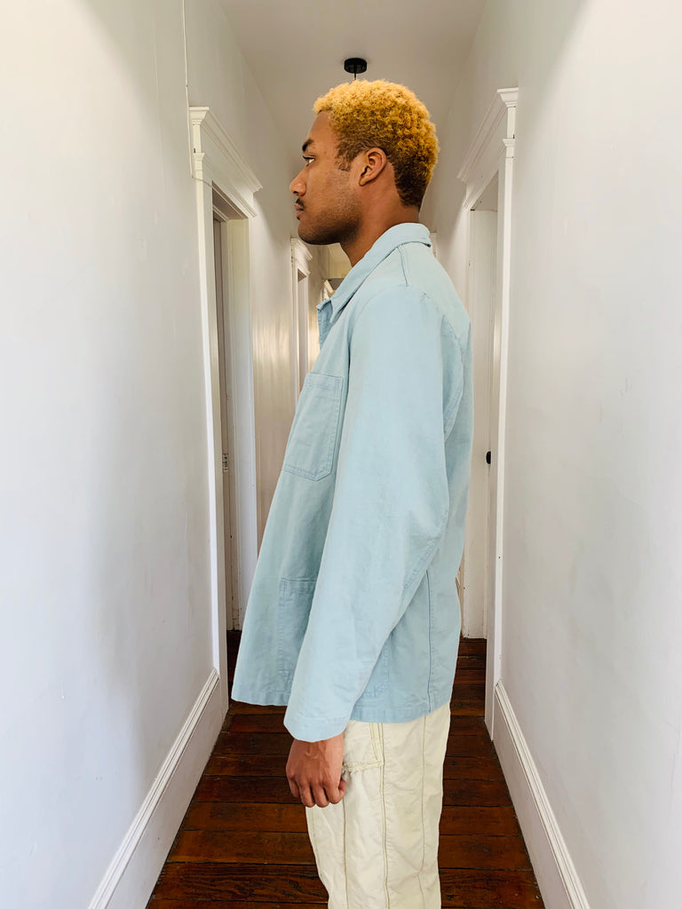 Sage Over-Dyed Military Jacket
