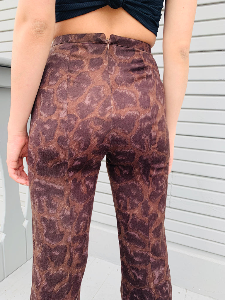 Instante By Versace Animal Print Pants
