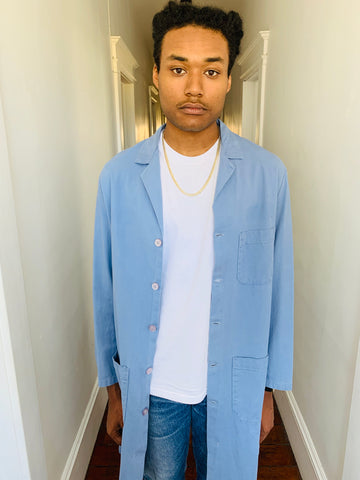 Vintage Blue Lab Coat