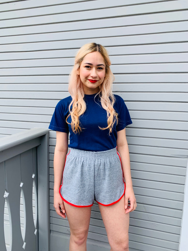 Super Thin Royal Blue Single Stitch Tee