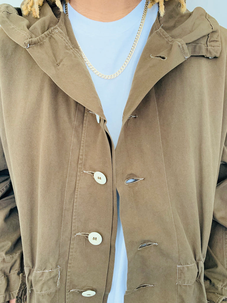 Brown Over-Dyed Parka