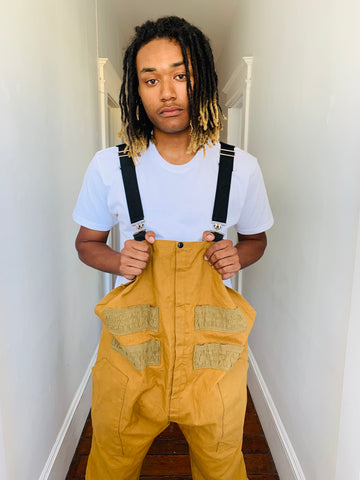 Tan Canvas Fisherman Overalls