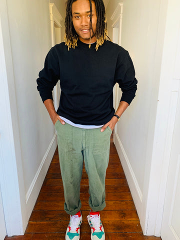 Worn-In Olive Army Pants