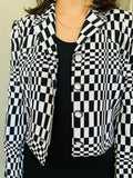 Checkered Crop Blazer