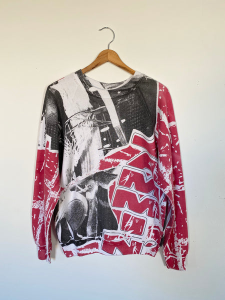Vintage Basketball Allover Print Sweatshirt