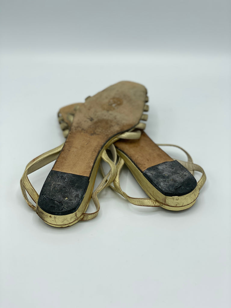 Joan & David Metallic Sandals