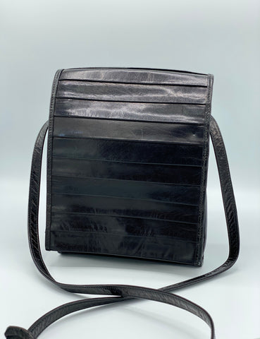 Leather Paneled Flap Crossbody