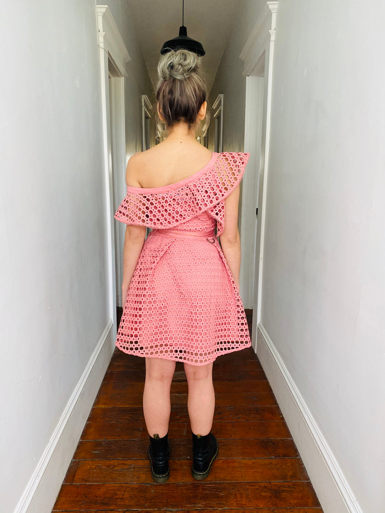 Self-Portrait Ruffled Cocktail Dress