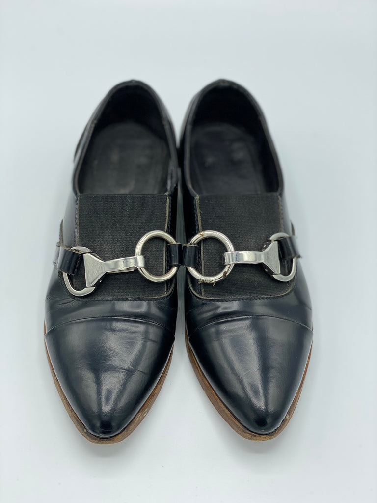 Pointed Leather Loafers