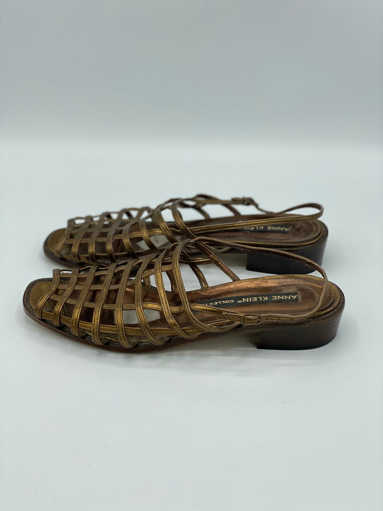 Vintage Bronze Caged Sandals