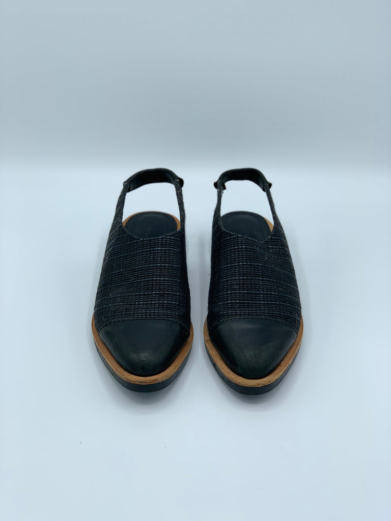 & Other Stories Woven Leather Sling Backs