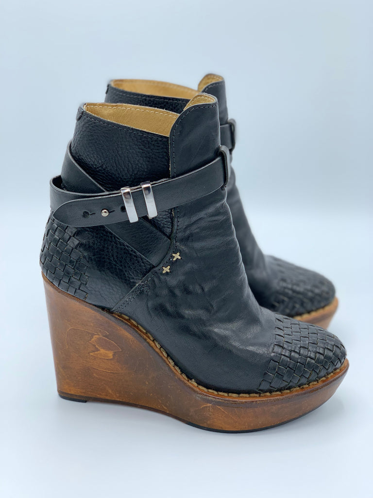 All Saints Wooden Wedge Boot