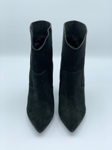 FENDI Suede Pointed Boot w/ Angle Heel