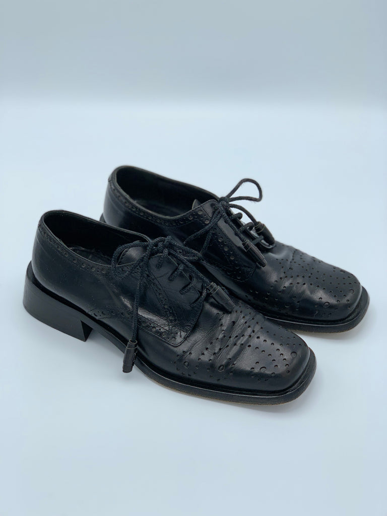 Joan & David Perforated Leather Oxfords